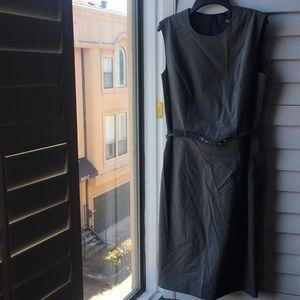 Peck & Peck gray lined sheath dress